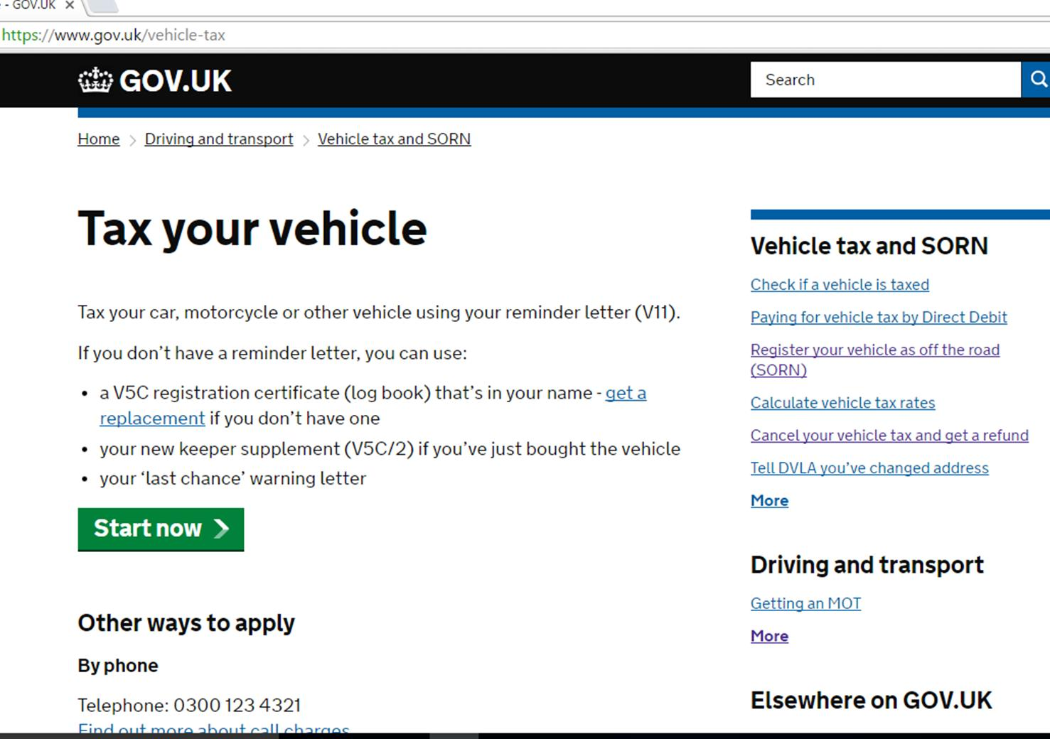 Tax Your Vehicle